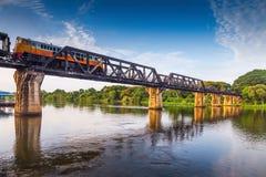 Река Kwai моста, Kanchanaburi Стоковые Изображения RF