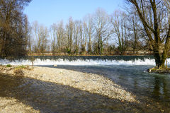 Река Lambro в парке Монцы Стоковое фото RF