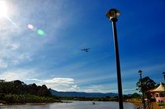 Река Lawas, Lawas, Саравак, Малайзия Стоковое Изображение