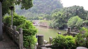 Река Li как замечено в Guilin, Китае сток-видео