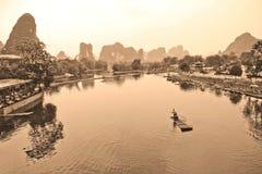Река Li, Китай Стоковое Фото