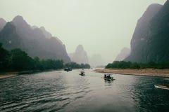 Река Li, Gulin, Китай Стоковая Фотография
