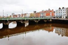 река liffey dublin Ирландии Стоковая Фотография