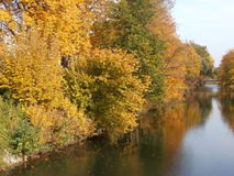 Река Lippe на Lippstadt стоковое фото