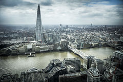река london ландшафта свободного полета городского пейзажа здания самомоднейшее показывает thames Стоковая Фотография