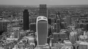 река london ландшафта свободного полета городского пейзажа здания самомоднейшее показывает thames Стоковое Изображение