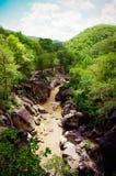 Река Mae-chaem в Ob-Luang Стоковые Изображения RF