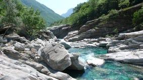 Река Maggia в Тичино в южной Швейцарии Стоковое фото RF
