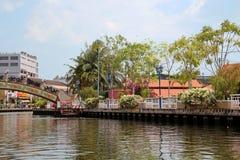Река Melaka Стоковые Изображения RF