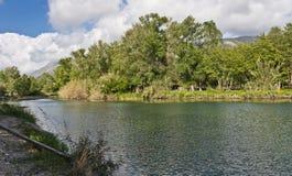 Река Mingardo, Palinuro Италия Стоковые Фото