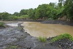Река Miral на Bansalan, Davao del Sur, Филиппинах стоковые изображения rf