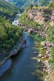 Река Moraca в Черногории Стоковая Фотография RF