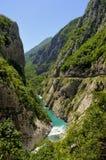 Река Moraca, каньон Platije стоковые фото
