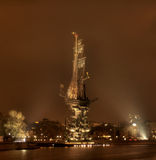 река moscow peter памятника i к Стоковые Фотографии RF