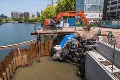 Река Motoyasu стоковая фотография