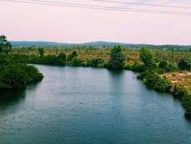 Река Muara Natuna стоковая фотография rf
