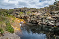 Река Mucugezinho в Chapada Diamantina - Бахи, Бразилии Стоковые Изображения