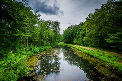 Река Nashua на моих падает парк в Nashua, Нью-Гэмпшир Стоковая Фотография RF