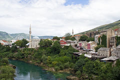 река Neretva в Mostar Стоковые Изображения
