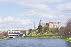 Река Ness и замок Стоковая Фотография