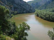Река Nestos около Xanthi Фракии Греции Стоковое фото RF
