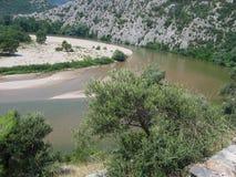 Река Nestos около Xanthi Фракии Греции Стоковая Фотография RF