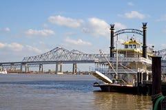 река New Orleans шлюпки Стоковые Фотографии RF