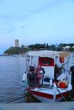 река newburyport merrimac рыболовства стыковки шлюпки стоковые изображения