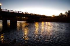 Река nighttime Стоковые Фотографии RF