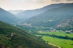 Река Noguera Pallaresa долины Montardit de Baix Стоковая Фотография RF