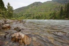 Река North Fork Flathead Стоковое Изображение