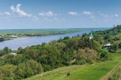 Река Oka Центральное Россия Стоковое Изображение RF