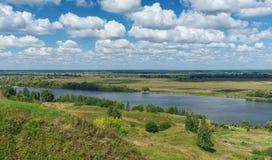 Река Oka Центральное Россия Стоковые Изображения