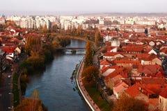 Река Oradea Crisul Repede Стоковое Изображение RF