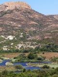 Река Ostriconi, Корсика Стоковое Изображение