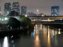 река philadelphia ночи Стоковое фото RF