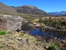 Река Pholela, национальный парк Drakensberg uKhahlamba Стоковое Изображение RF