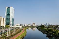 Река Pinheiros Стоковое Изображение RF