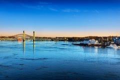 Река Piscataqua первого света Стоковая Фотография RF