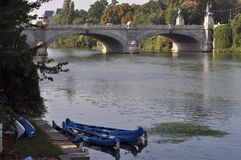 Река Po в Турине Стоковое Фото