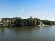 Река Po в Турине Стоковая Фотография