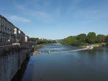 Река Po в Турине Стоковые Изображения