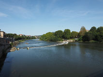 Река Po в Турине Стоковое фото RF
