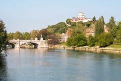 Река Po на Турине Стоковое Изображение