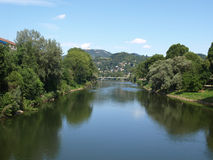 река po turin Стоковое Изображение
