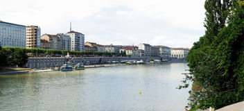 река po turin Стоковая Фотография