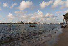Река Potengi и натальный горизонт стоковая фотография rf