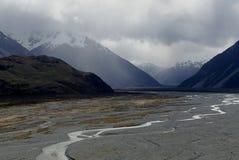 Река Rakaia Стоковая Фотография