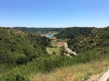 Река Rapel и своя долина Стоковые Фотографии RF