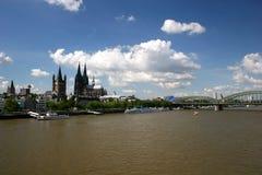 река rhine cologne собора Стоковые Изображения RF